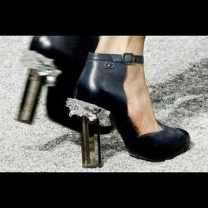 CHANEL Half d'Orsay Ice Block Crystal Ankle Boots